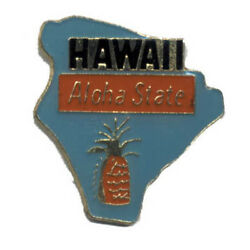 Wholesale Lot Of 12 Hawaii State Shaped Lapel Hat Pins Tie Tac Fast Shipping
