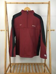 Chase Authentic Dale Earnhardt Jr 8 Budweiser 1/3 Zip Pullover Sweater Size L