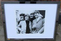 Beautiful Rare Numbered Black And White Beatles Group Photo London Framed Photo