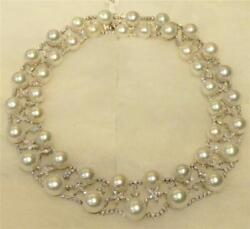 LIQUIDATION!$78K RARE CERTIFIED 18KT LG SOUTH SEA CULTURE PEARL DIAMOND NECKLACE