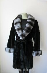 Womenand039s Sz 12 New Mink And Chinchilla Fur Coat Clearance Sale 💰