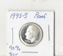 1995 S Proof Silver Roosevelt Dime Free Shipping