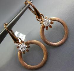 .44ct Diamond 18kt White And Rose Gold 3d Circle Of Life Flower Hanging Earrings
