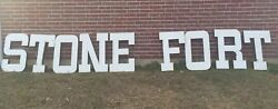 30 Porcelain Stone Fort Bank Nacogdoches Texas 3d Large Sign Letters