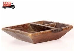 1850and039s Indian Antique Hand Carved Tribal Kitchenware Eating / Spice Bowl 8598