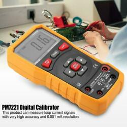 Peakmeter Pm7221 Lcd Digital Calibrator Current Voltage Tester With Test Leads