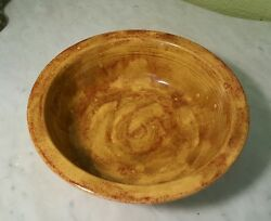 Rare Vintage Fiesta Ware Mottled Yellow 8.5 Rimmed Bowl One Of A Kind