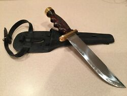Very Rare Vintage Amf Stainless And Gold Scuba Knife