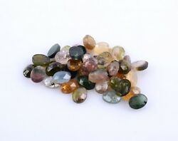 Natural Stone Multi Tourmaline Faceted Oval Cut Gemstone 6X8MM AAA 187.90 carat