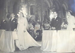 Bride And Groom Church Wedding Ceremony Nice Old Four Great Photos