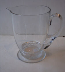 Authentic Rare Estate Signed Genuine Frosted Base Lalique Pitcher
