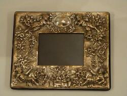 Before It Goes Rare Important Sterling Silver Rococo Frame W/ Cherub England