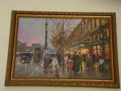 Beautiful Paris Street Painting After Courtes, Niccolo