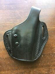 Tex Shoemaker Level 2 Black Leather Retention Holster For Springfield Xd 45 4