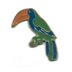 Wholesale Lot Of 12 Toucan Bird Parrot Lapel Hat Pins Tie Tac Fast Usa Shipping