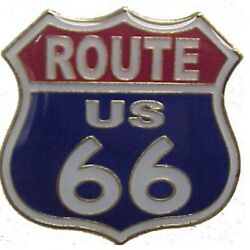 Wholesale Lot Of 12 Route Us 66 Shield Red White Blue Lapel Hat Pins Fast Ship