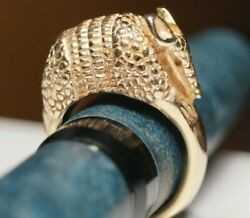 James Avery Retired And Vintage 14k Yellow Gold Armadillo Ring Size 6