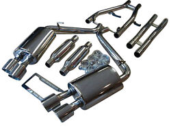 Fit Jaguar Xf Sedan 3.0l Na And Supercharged 12-15 Dual Exhaust Systems W/ H Pipe