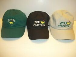 Vgt Masters Golf Hats Lot Of 3 2007/11/ 15 Strapback  Very Good Condition