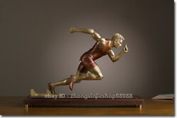 Western Art Deco Sculpture Man Starting Point For Athletes Running Statue
