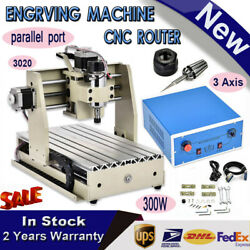 300W 3 Axis CNC 3020 Router Engraver Machine Mill Wood Working 3D Carving Cutter
