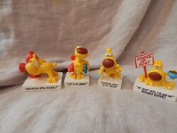 Lot Of 4 Vintage Plastic Mother Goose And Grimm Grimmy Small Figurines 1989 3