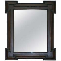 New Rrp £5800 Henredon Large Wall Mirror Antiqued Distressed Glass