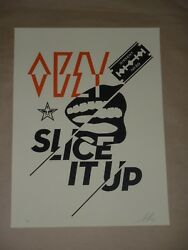 Slice It Up Shepard Fairey Obey Giant Signed Poster Art Print Street Urban