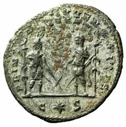 Aurelian Antoninianus Two Figures Crossed Swords And Ensigns Extremely Rare Gvf