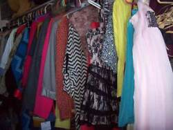 Huge Clothing Lot Resale Clothes Xlnt New And Used Vtg Womens Jrs Ladies Mens Bulk
