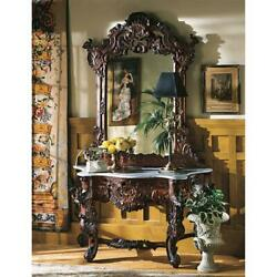 Design Toscano Hapsburg Mirror And Marble Topped Console Table