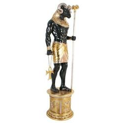 Design Toscano The Egyptian Grand Ruler Collection Life-size Khnum Statue At...