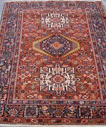 Antique Herizz Karajaa Hand Knotted Wool Premium Quality Oriental Rug 5and039 X 6and039