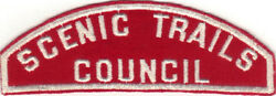 Boy Scout Rws Scenic Trails / Council Red And White Full Strip