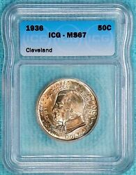 1936 Ms67 Cleveland Great Lakes Expo Classic Commemorative Half 50,030 Minted