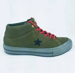 Converse One Star Counter Climate Leather Mid surplus olive 162550 Sz M 6 / W 8