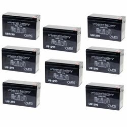 New 8 Pack Upg Ub1290 12v 9ah Sla Replacement Battery For Altronix Al300ulm