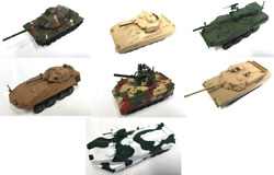 Set of 7 US Army Military Vehicles 1:72 DIECAST TANK USA BRADLEY VULCAN STRYKER