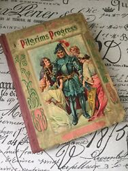 Pilgrims Progress Illustrated Children's Book A Donahue And Co. 1900's Rare