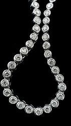Diamond Necklace 18ct White Gold with 116 diamonds 5.22 total cts 420mm long