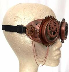 Steampunk Goggles Glasses Mask Cosplay Horror Halloween Carnival Costume Bronze