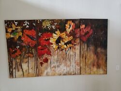Oil Paintings On Canvas Not Giclee Print Hand Painted 3 Canvases