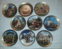 Set Of 9 The M.i. Hummel Limited Edition Century Plates By Danbury Mint