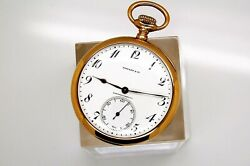 And Co Geneva Made By Ed Koehn 45mm Solid 18k Gold Pocket Watch
