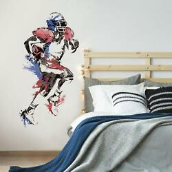 FOOTBALL PLAYER GiaNT WALL DECALS NeW Sports Bedroom Stickers Boys Room Decor