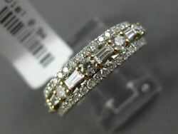 .94ct Round And Baguette Diamond 18kt White Gold 3d Semi Eternity Anniversary Ring
