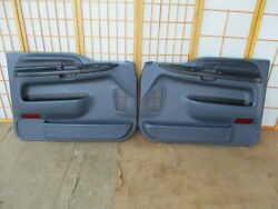 99-07 Ford F250 F350 Pickup Or Excursion Left And Right Blue Power Door Panel Set