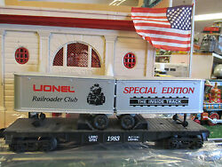 Lionel Modern 0781 Rr Club Flatcar With Trailers New Condition In Orig. Box 1983