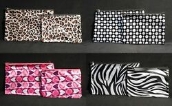 Cosmetic Bags 2 pc Makeup Travel Pouch Holder 4 Styles $5.95