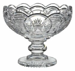 Waterford Designer Studio Harvest Moon 9 Crystal Footed Centerpiece Bowl Cooke